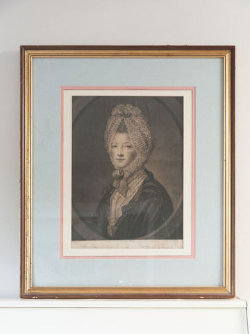 Original framed print picture by J.Finlayson of the Duchess of Argyll - Decorative Antiques UK  - 1