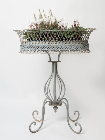 Antique French Wire Planter Stand