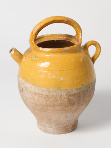 Antique French Provencal Yellow Jug