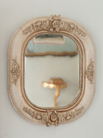 Pair Small Rare Antique French Decorative Mirrors