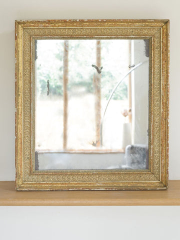 Antique French Mercury Mirror, Gilt frame