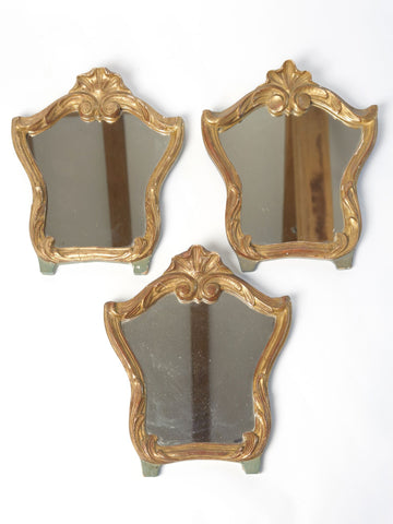 Antique Italian Wood and Gilt Mirrors