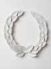 Handcrafted mini metal laurel wreath 18cm