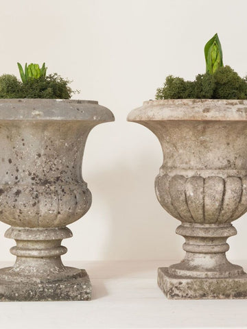 Beautiful 19th Century French Marble Urns - Decorative Antiques UK  - 1