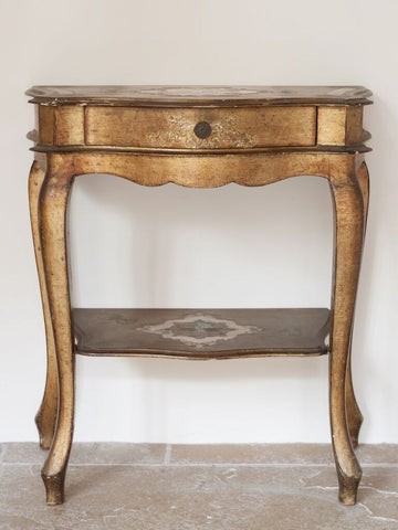Pretty Vintage Venetian Style Side table with drawer - Decorative Antiques UK  - 1