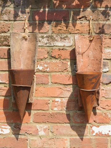 Antique French Terracotta Roof Tile wall planters