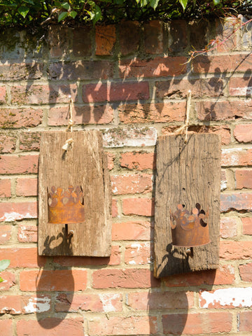 Antique French Wood Wall Candle Sconces