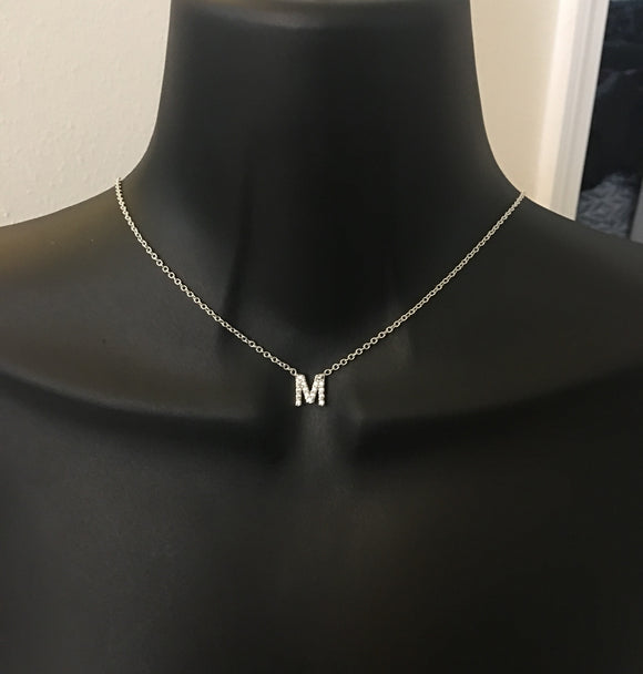 The image that represents the initial necklaces collection at Rhinestone Candy Store.  The collection includes personalized initial necklaces that are sold at Rhinestone Candy Store.
