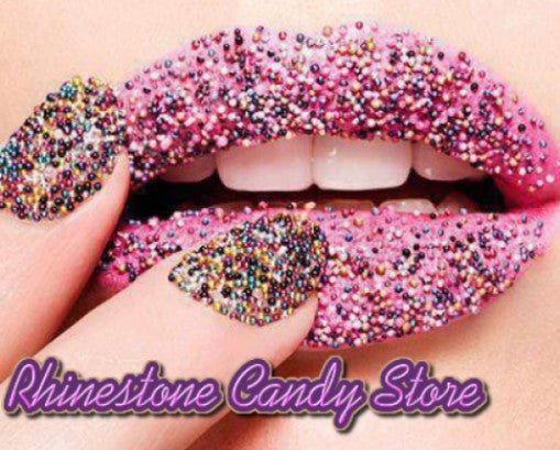 A logo for the store - Rhinestone Candy Store. In the store you will find personalized jewelry, personalized necklaces, name necklaces, custom jewelry and more!