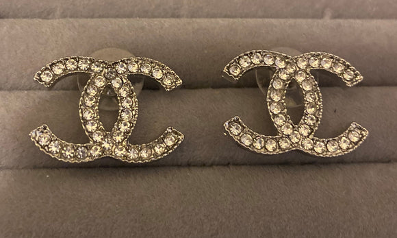 Chanel earrings - rhinestonecandystore