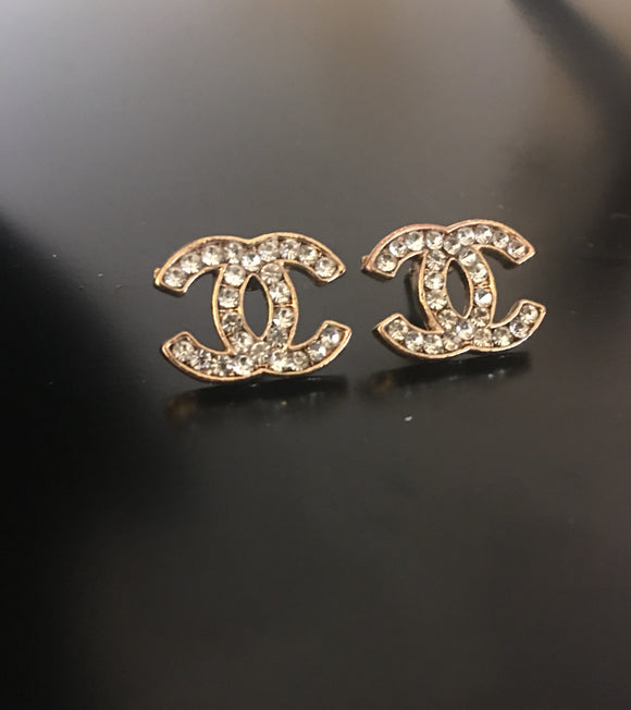 gold Chanel earrings