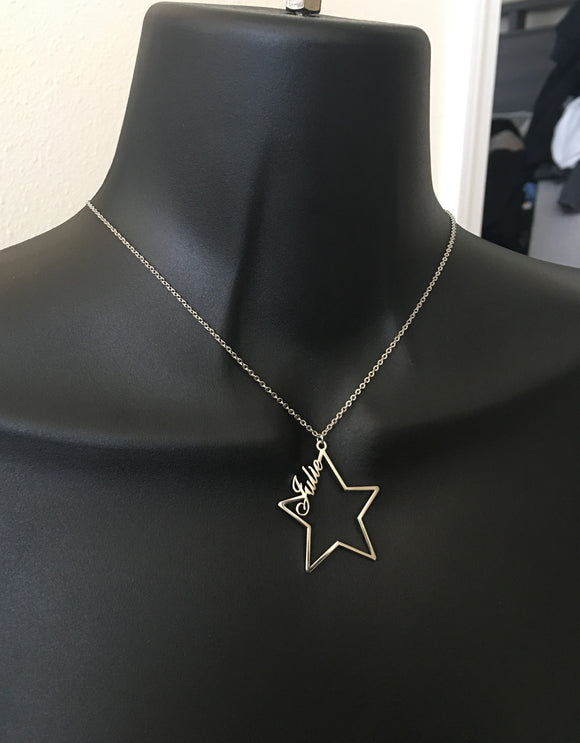 Personalized, star name necklace - rhinestonecandystore