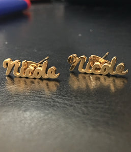 Personalized name earrings - rhinestonecandystore