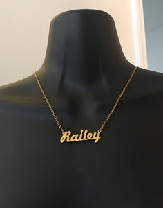 Personalized name necklace - rhinestonecandystore