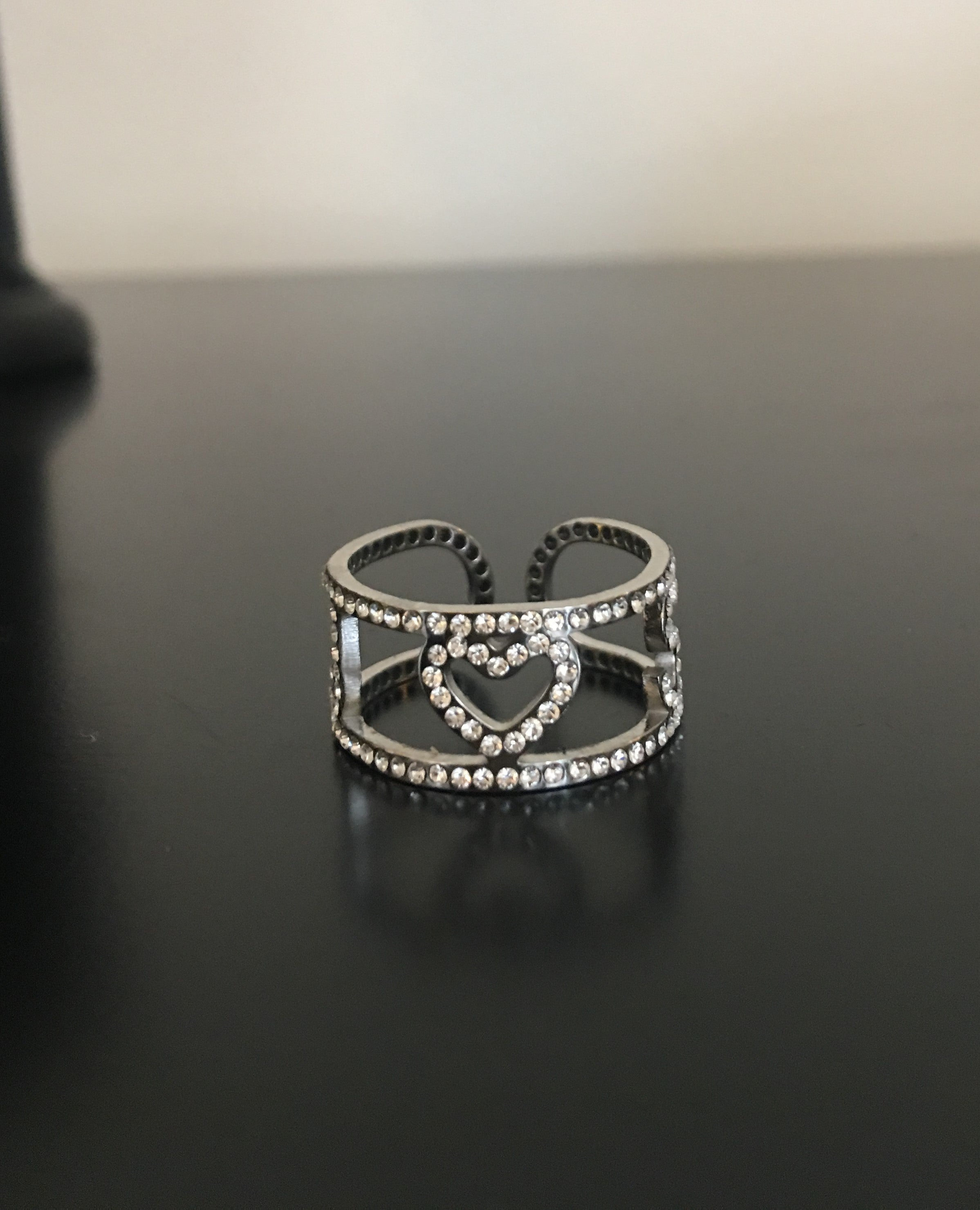 2 initial, diamond initial ring