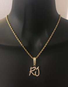 Diamond initial or name necklace - rhinestonecandystore
