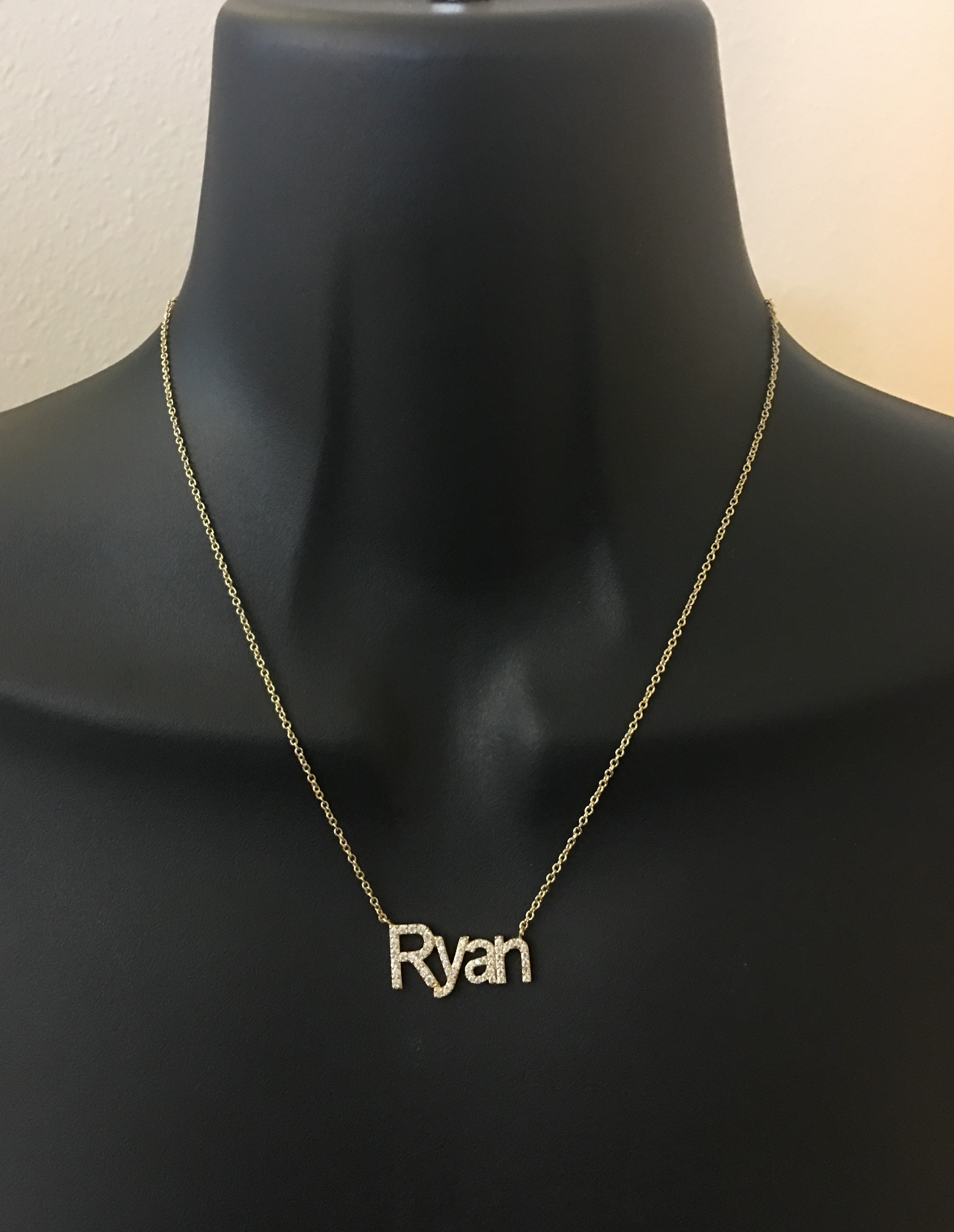 Diamond bling name necklace 2