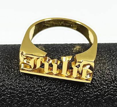 Block name ring - rhinestonecandystore