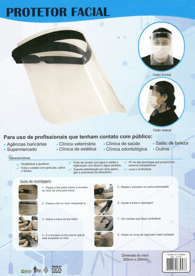 PROTETOR FACIAL FACE SHIELD - PRONTA ENTREGA Super Shop