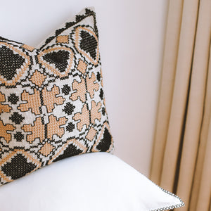Eros - Nude Embroidered Cushion