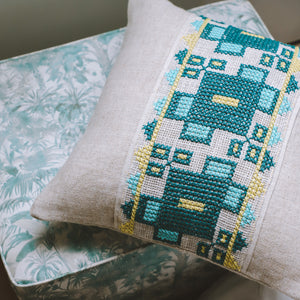 Meliad - Green Embroidered Cushion