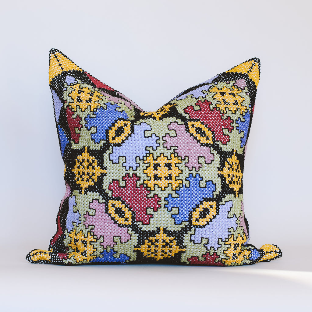 Nysa - Multicoloured Embroidered Cushion