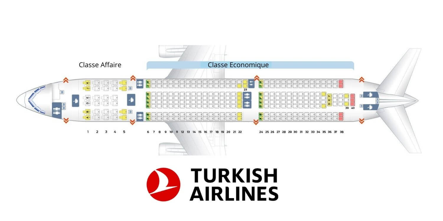 Plan cabine a330 300 Turkish Airlines