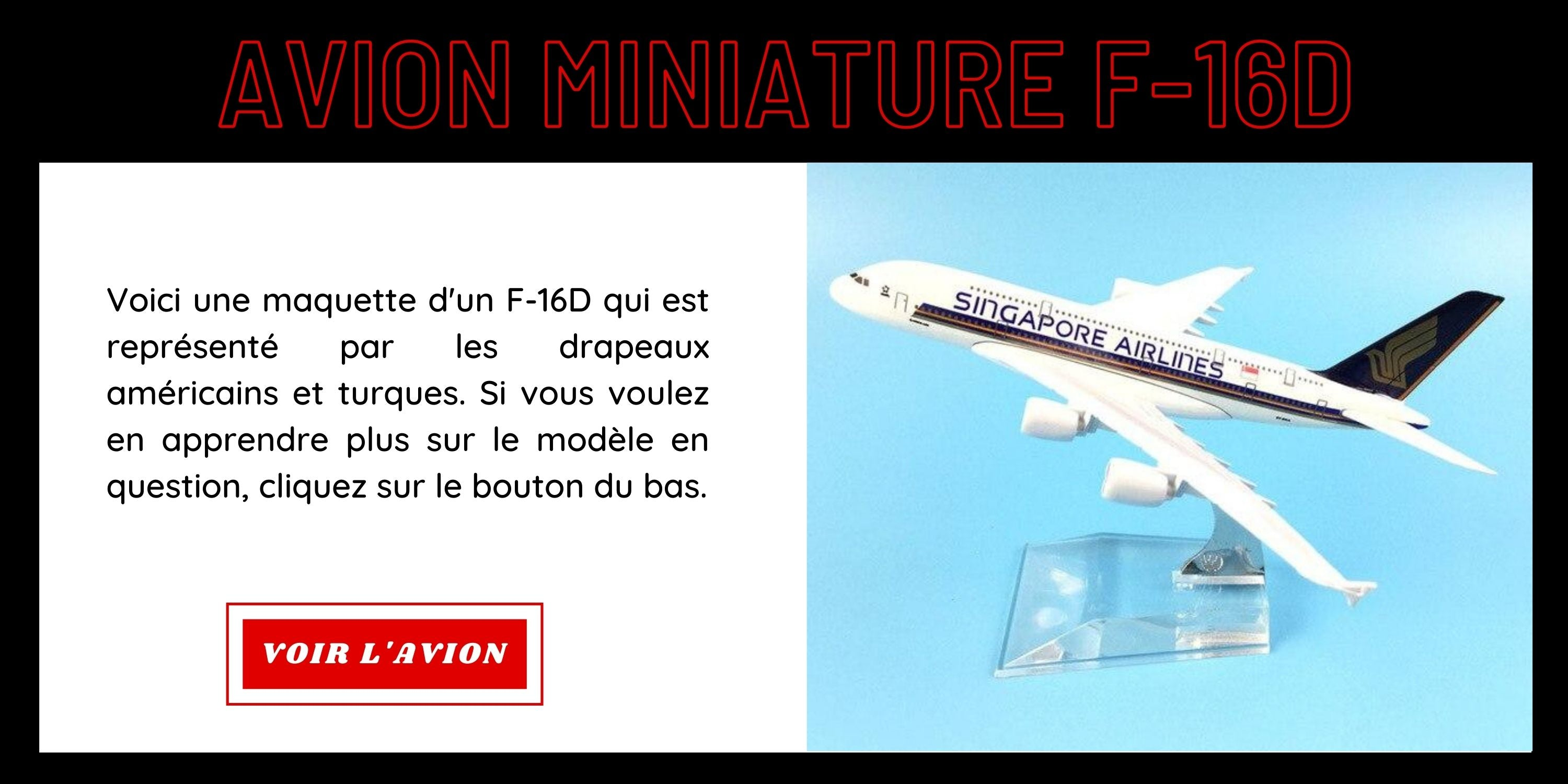 Avion miniature A320
