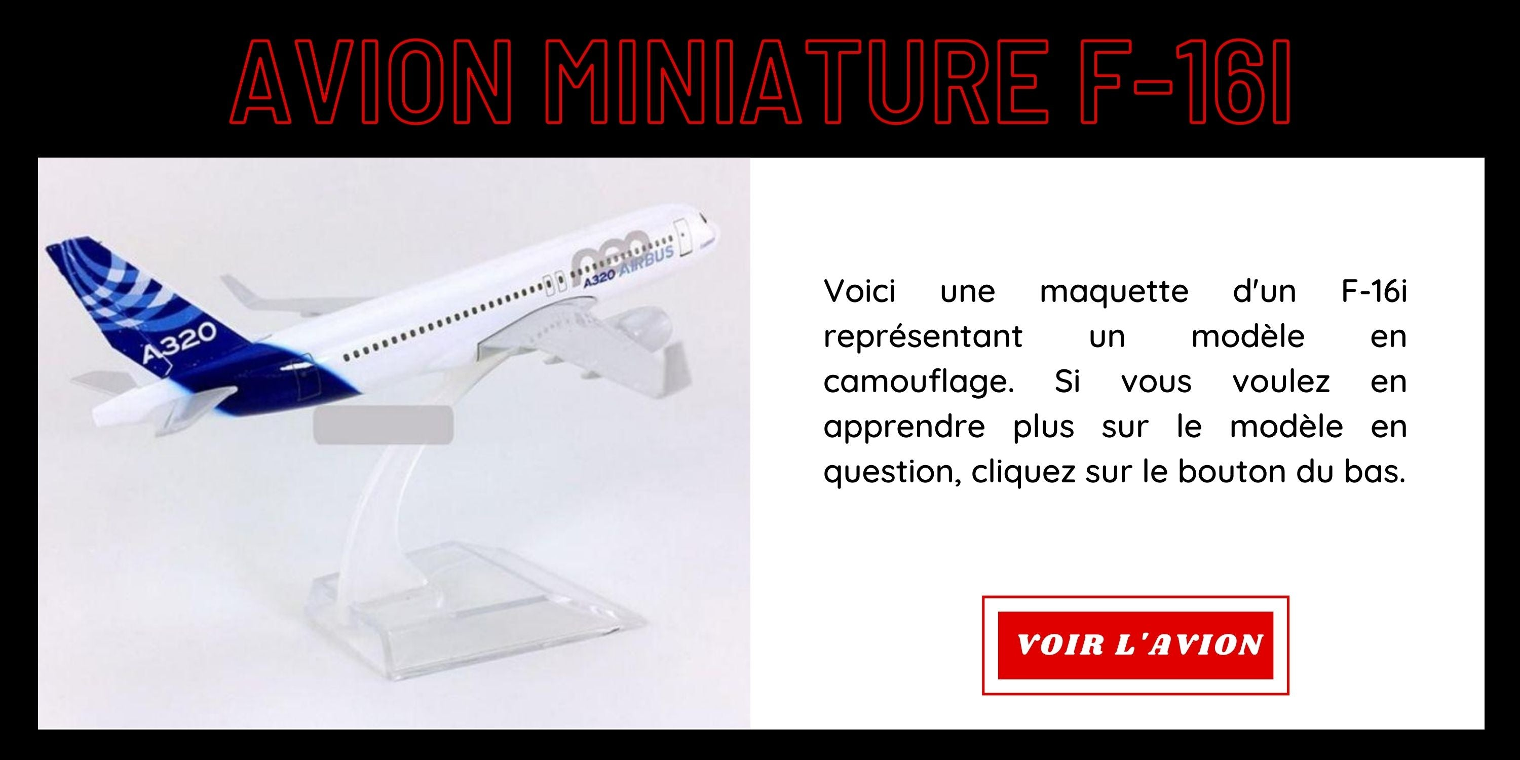 Avion miniature A320NEO