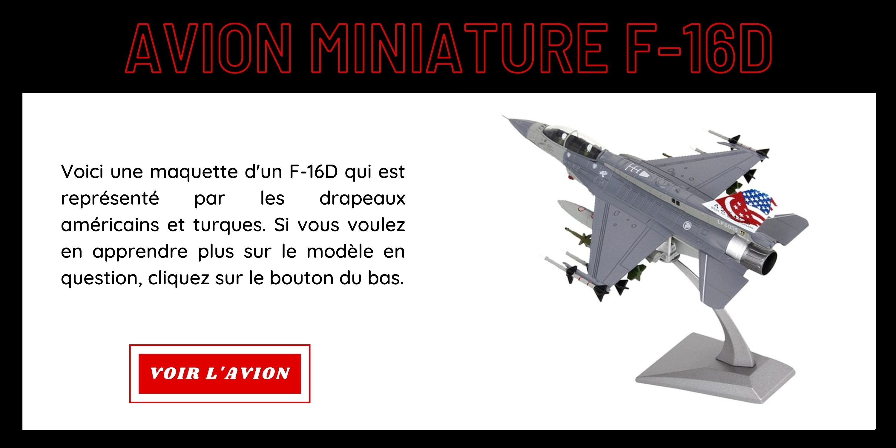 Avion Miniature F-16D