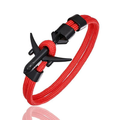 Bracelet Aviateur Avion Rouge