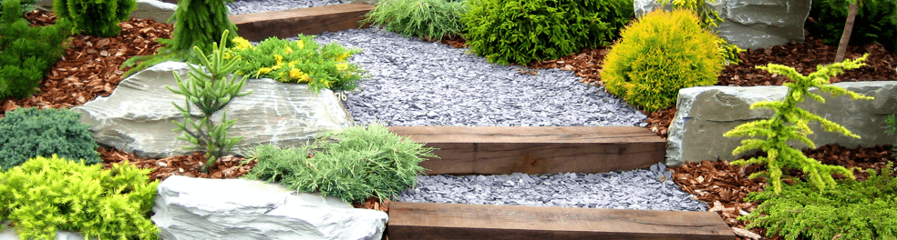 Get an easy and inviting garden with granite chips
