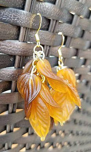 Autumn Earrings, Falling Leaves, Fall Foliage, Fall Leaves, Leaf Earrings, Leaf Dangles Cedar Hill Country Market