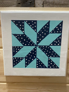 Barn Quilt Block Plaque Home Decor - Mini 12 X 12 Cedar Hill Country Market