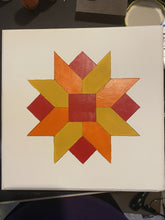 Load image into Gallery viewer, Barn Quilt Block Plaque Home Decor - Mini 12 X 12 Cedar Hill Country Market