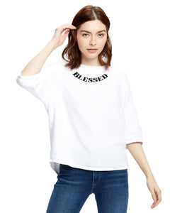 Blessed Inspirational Open Cross Back Drop Shoulder Sweatshirt CedarHill Country Market