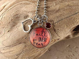 Faith Over Fear Necklace Cedar Hill Country Market