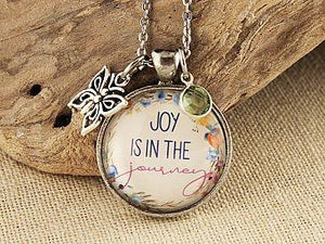 Joy is in the Journey Pewter Necklace Cedar Hill Country Market