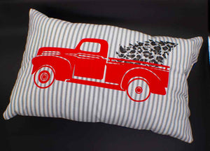 Merry Christmas Farm Truck Pillow Cedar Hill Country Market
