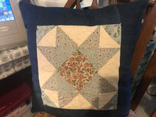 Load image into Gallery viewer, Quilted star Farmhouse Pillow Cedar Hill Country Market