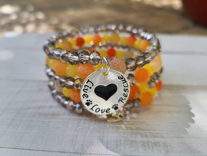 SPCA/RESCUE AWARENESS BEADED BRACELET Cedar Hill Country Market
