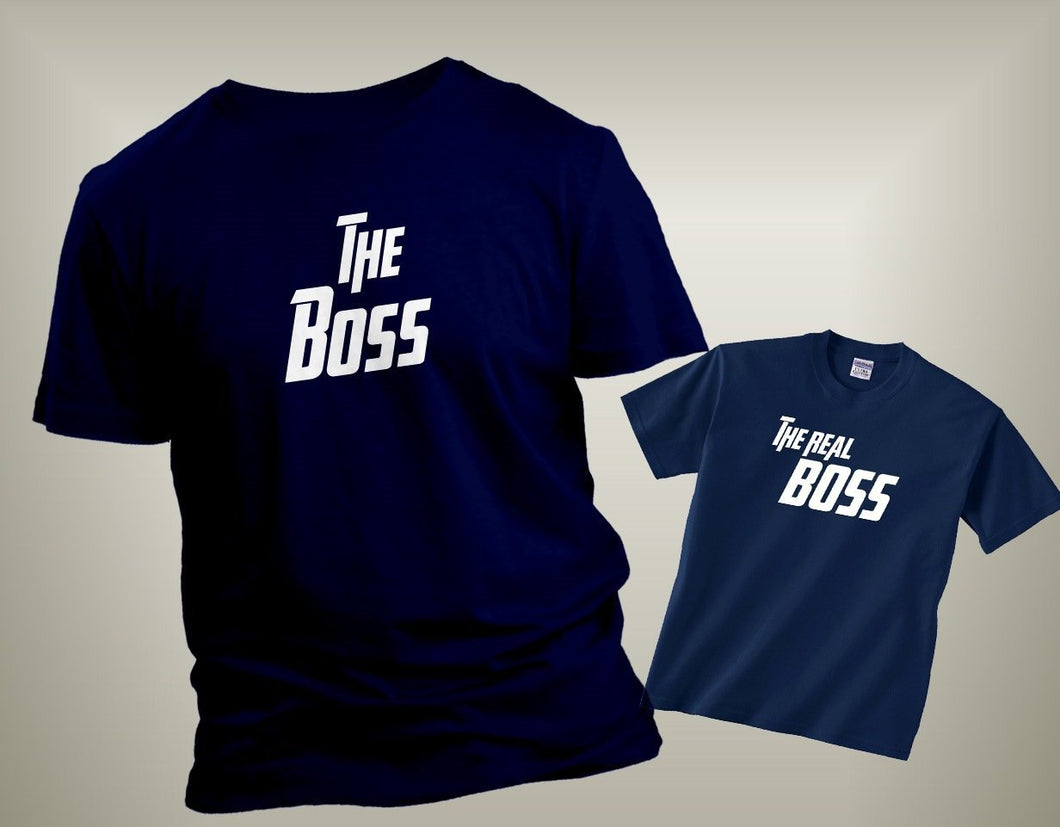 The Boss The Real Boss Father Son Graphic T-shirt Set Cedar Hill Country Market