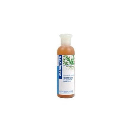 Macrovita Shampoo for Oily & Dandruff Hair with Rosemary & Red Grape. 200ml