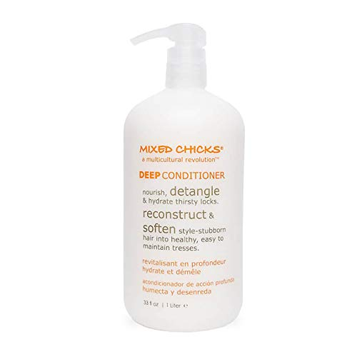 Mixed Chicks Detangling Deep Conditioner - Softens, Moisturizes & Detangles Straight or Curly Hair, 33 fl.oz