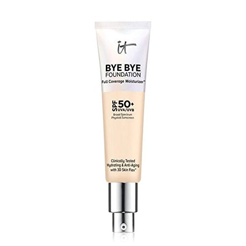 It Cosmetics Bye Bye Foundation Full Coverage Moisturizer Fair Light Spf 50+ 1.0 Ounce