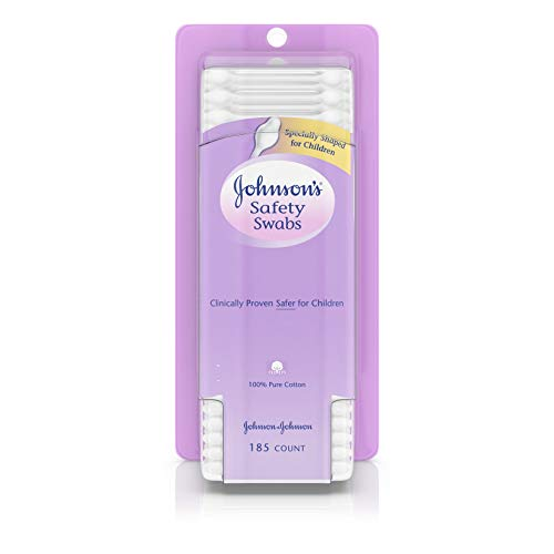 Johnson's Safety Ear Swabs For Babies And Children Made With Non Chlorine Bleached Cotton For A Gent