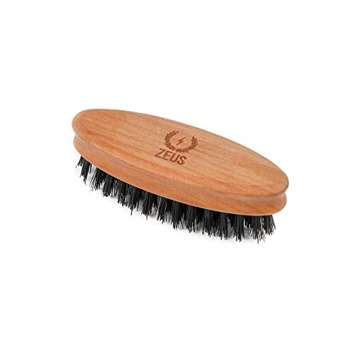 Zeus 100% Boar Bristle Pocket Beard Brush For Men, Travel Beard Hair Brush   Made In Germany (Firm B