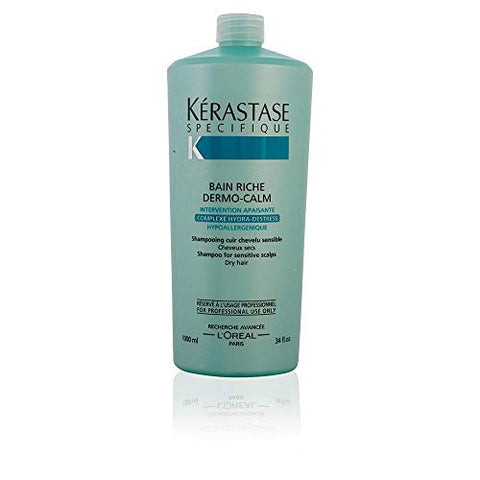 Kerastase Dermo-Calm Bain Riche Haute Tolerance Shampoo for Unisex, 8.5 Ounce
