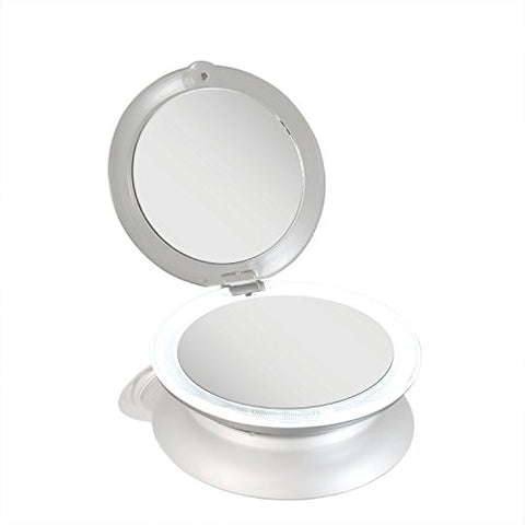 Zadro Led Lighted Premium Two Sided Quality Ultimate Compact Mirror With 1 X / 10 X Magnification