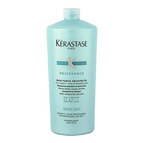 Kerastase Resistance Bain Force Architecte Reconstructing Shampoo Erosion Level [1 2] 34 Fl.Oz. 1000